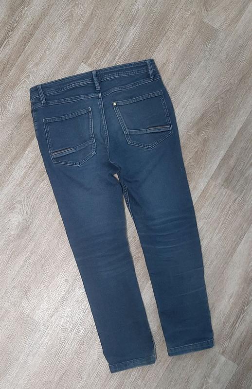 Детские джинсы / джинсы со шнурками / штаны / джинс / - Фото 4