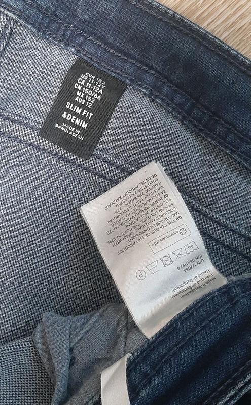 Детские джинсы / джинсы со шнурками / штаны / джинс / - Фото 8