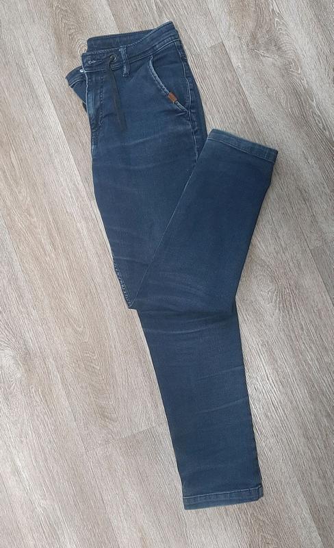 Детские джинсы / джинсы со шнурками / штаны / джинс / - Фото 7
