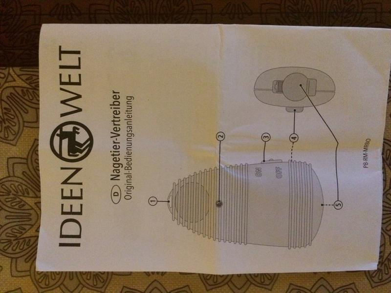 Отпугиватель мышей на батарейках IDEEN WELT P8-RM-MRBO - Фото 4