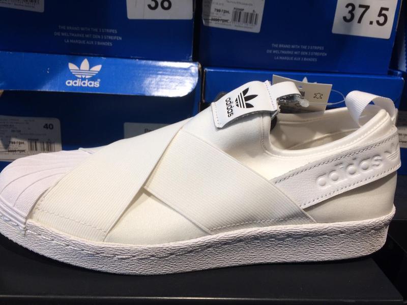 Кроссовки-слипоны adidas superstar w s81338 - Фото 2