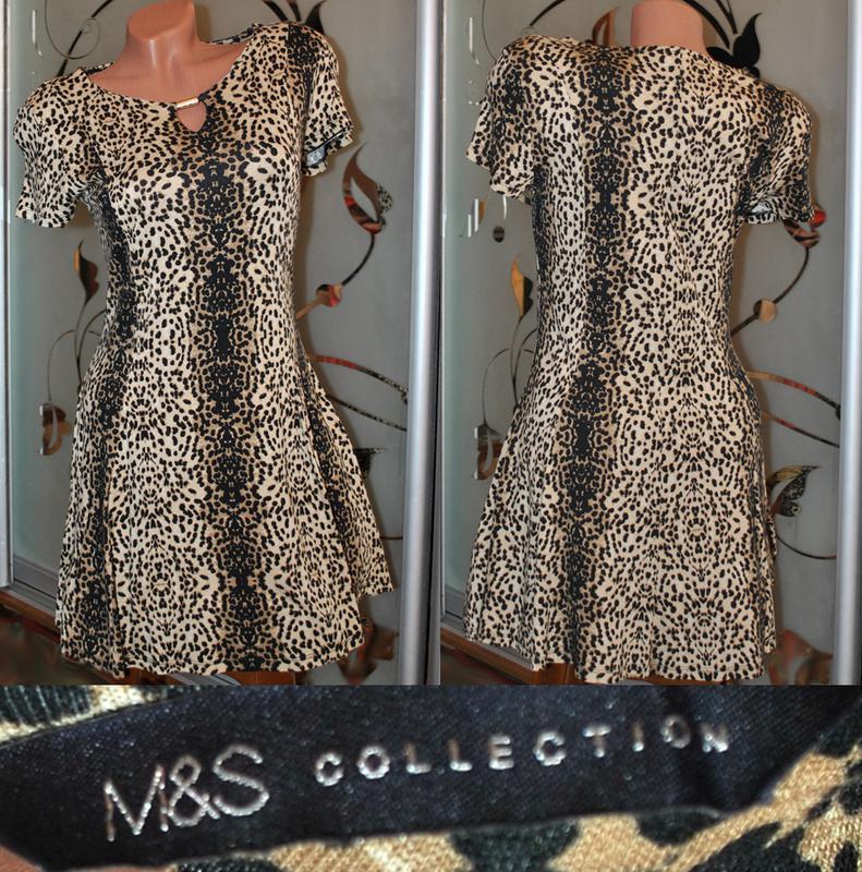 Леопардовое платье от m&s р.m/l
