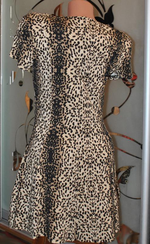 Леопардовое платье от m&s р.m/l - Фото 3