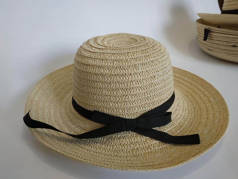Шляпа женская летняя канотье полями 9 см и лентой кремовая сол... - Фото 4
