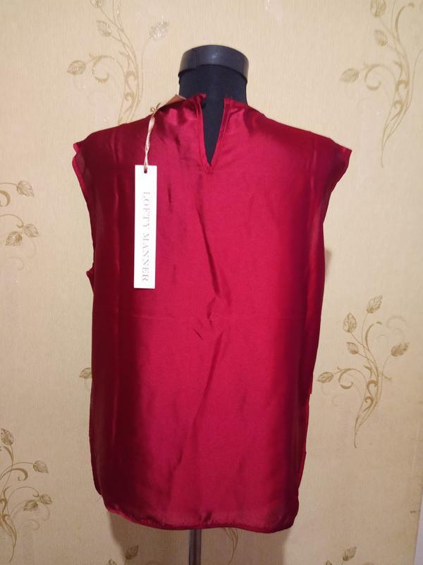 Нарядная блуза с камнями цвет бордо lofty manner - Фото 4