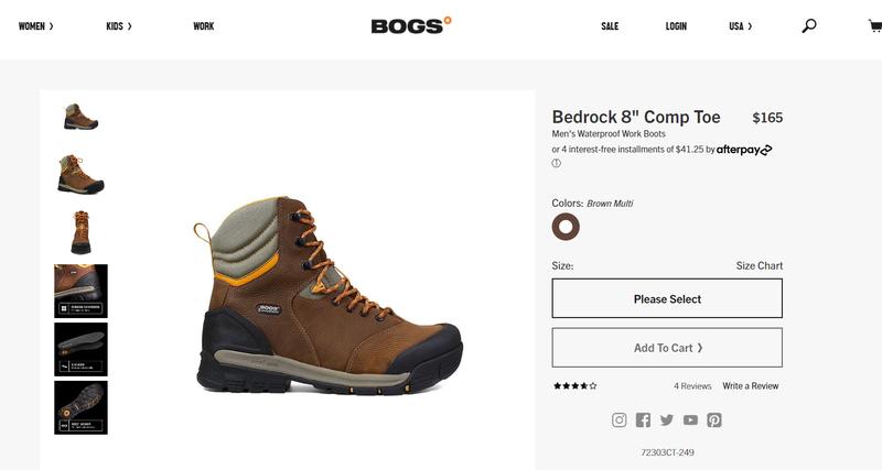 """Черевики Bogs Bedrock 8"""" Boots Waterproof - Фото 10"""