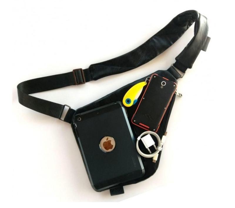 Мужская стильна сумка кобура на плечо cross body. практичный и... - Фото 2