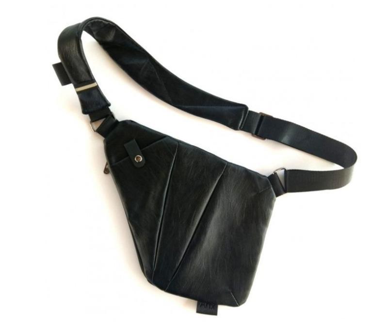 Мужская стильна сумка кобура на плечо cross body. практичный и... - Фото 4