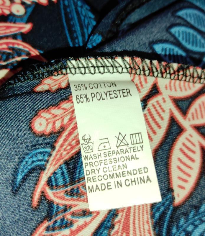 Платье стильное приталенное в цветы под пояс uk 14/42/l - Фото 6