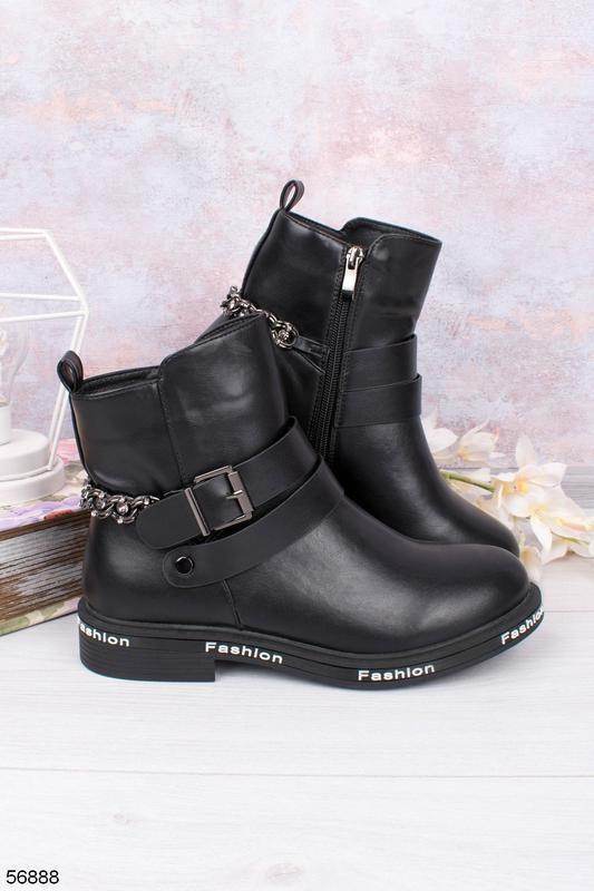 Женские кожаные ботинки - Фото 4
