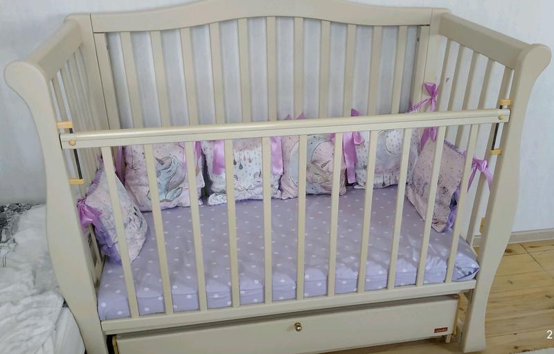 Продам детскую кроватку Ласка в идеальном состоянии на маятнике - Фото 3