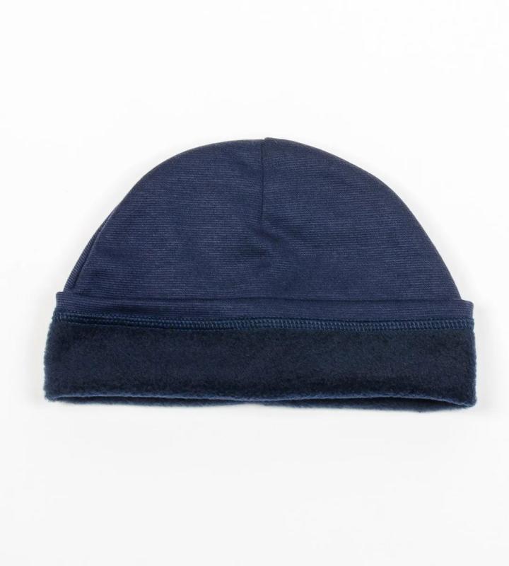 Комплект шапка и хомут, темно синий цвет, утепленный, принт св... - Фото 9