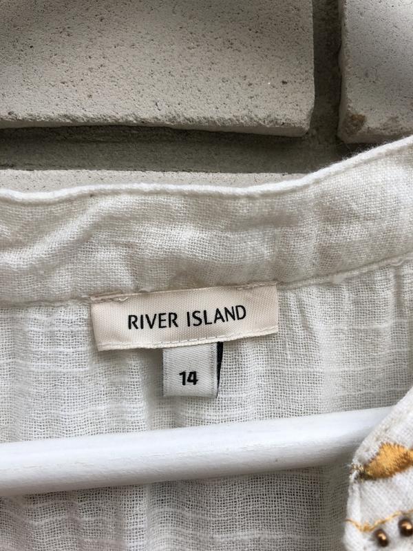 Блузка в этно бохо стиле river island - Фото 4