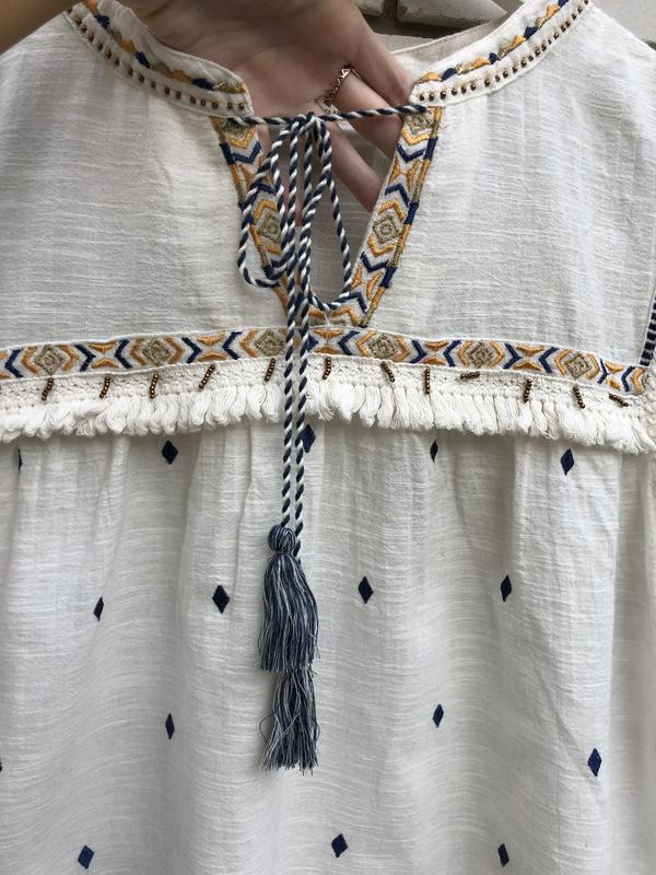 Блузка в этно бохо стиле river island - Фото 7