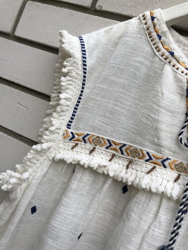 Блузка в этно бохо стиле river island - Фото 8