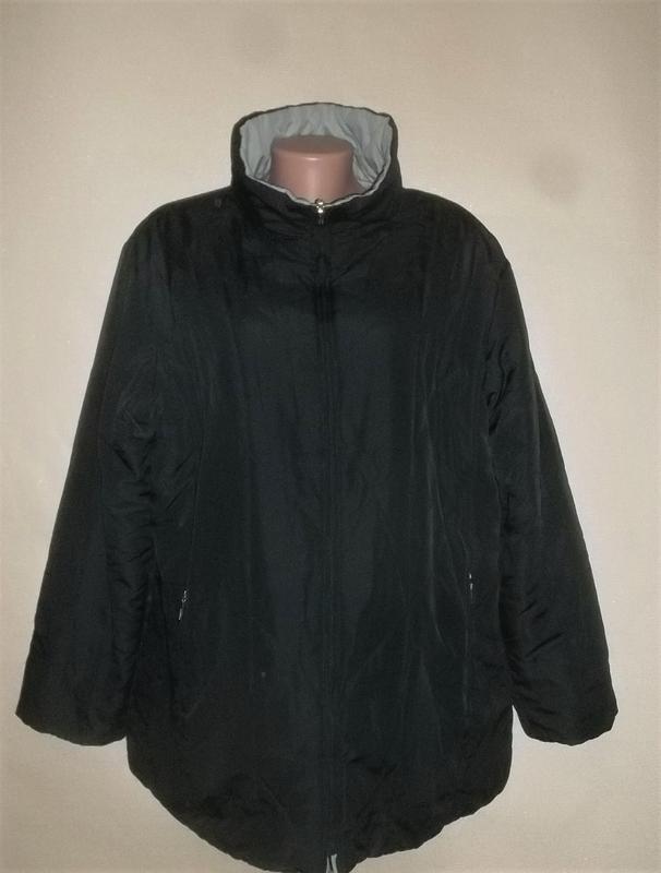 Куртка двухсторонняя тёмно-синий/голубой пог=66 см.