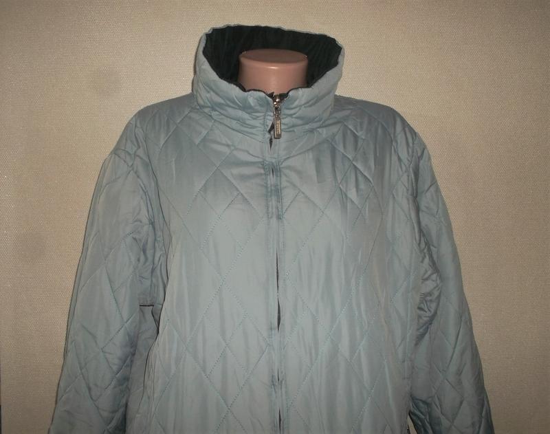 Куртка двухсторонняя тёмно-синий/голубой пог=66 см. - Фото 4