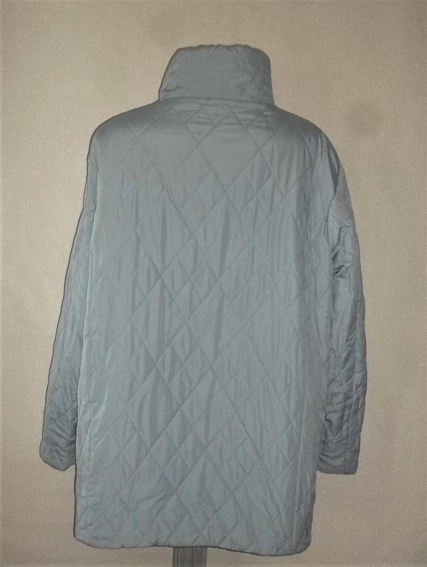 Куртка двухсторонняя тёмно-синий/голубой пог=66 см. - Фото 6