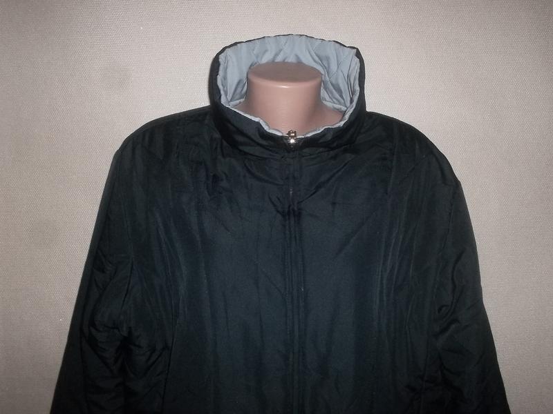 Куртка двухсторонняя тёмно-синий/голубой пог=66 см. - Фото 7