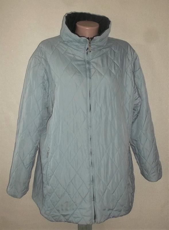 Куртка двухсторонняя тёмно-синий/голубой пог=66 см. - Фото 8