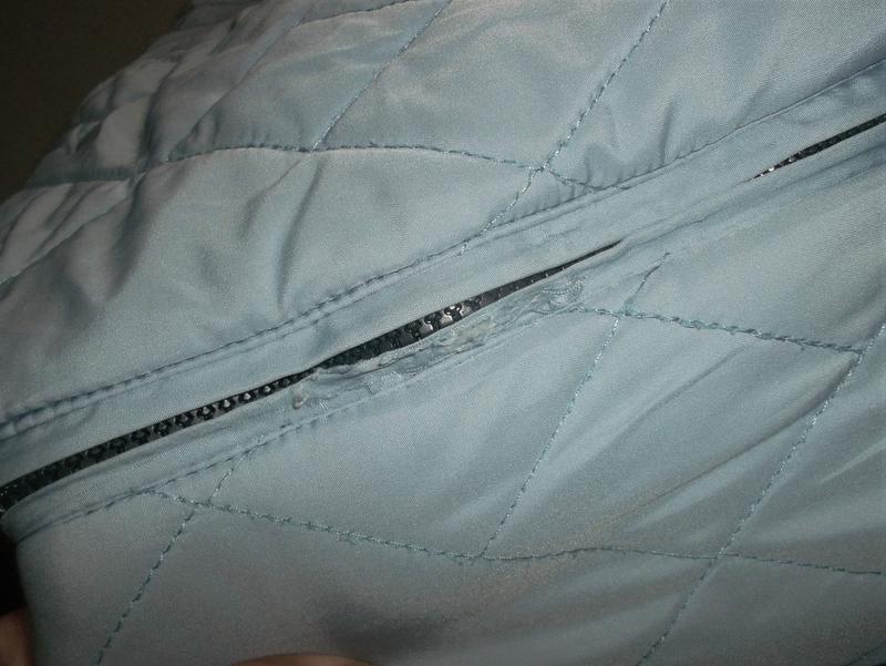 Куртка двухсторонняя тёмно-синий/голубой пог=66 см. - Фото 9