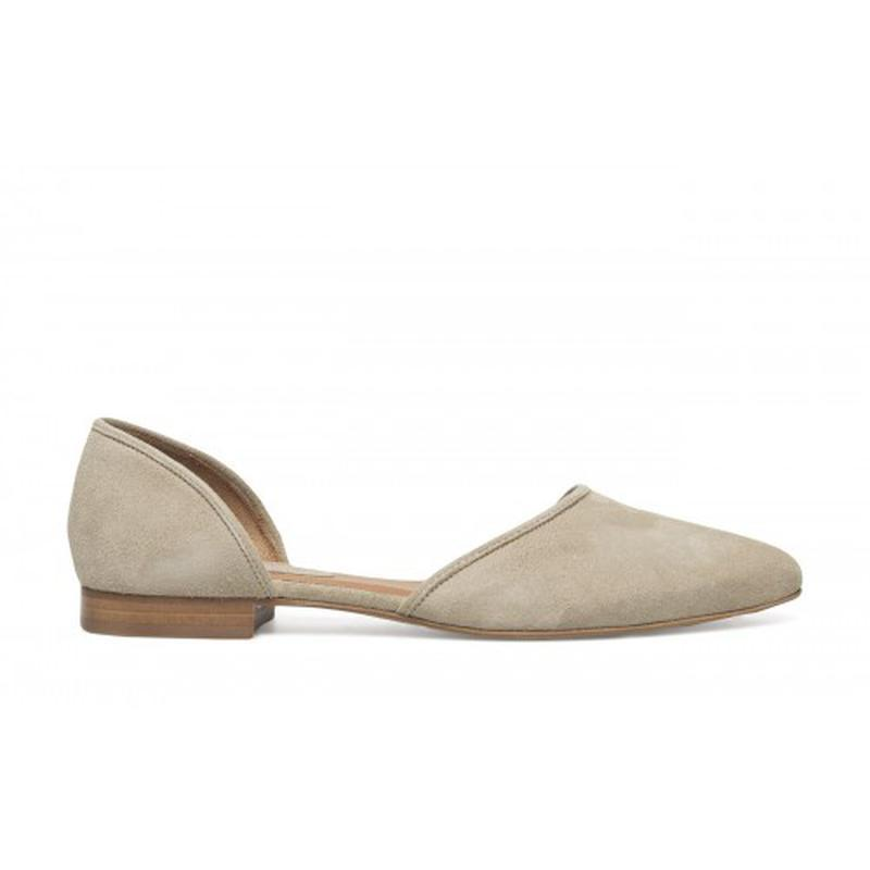 Туфли балетки женские 24.5см натур.замша кожа