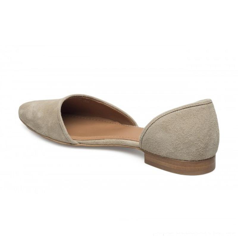 Туфли балетки женские 24.5см натур.замша кожа - Фото 3