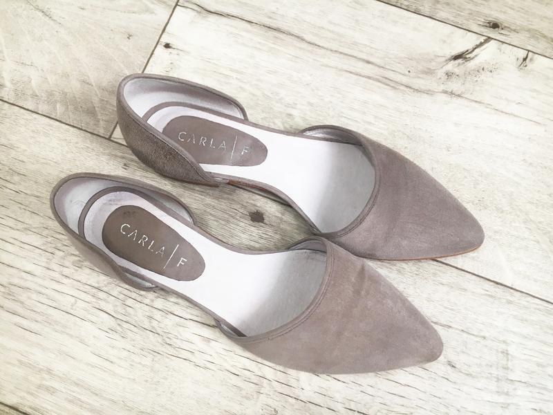 Туфли балетки женские 24.5см натур.замша кожа - Фото 4