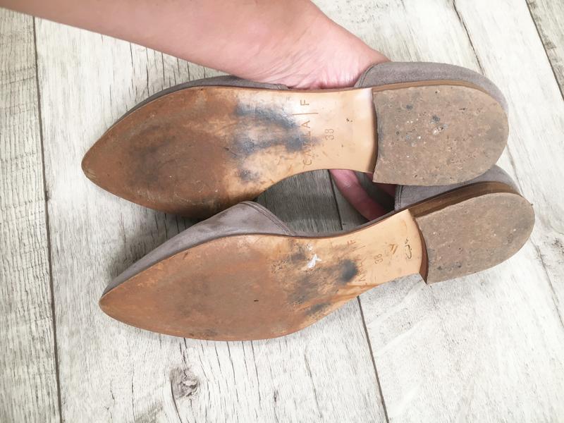 Туфли балетки женские 24.5см натур.замша кожа - Фото 8