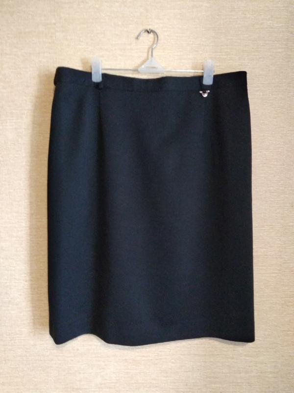 Прямая классическая юбка спідниця с шлицей шерсть