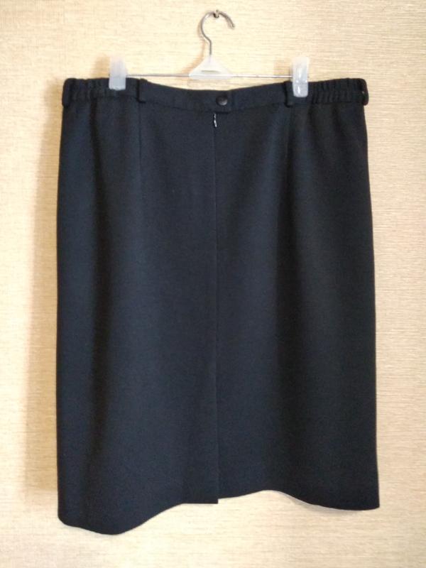 Прямая классическая юбка спідниця с шлицей шерсть - Фото 2