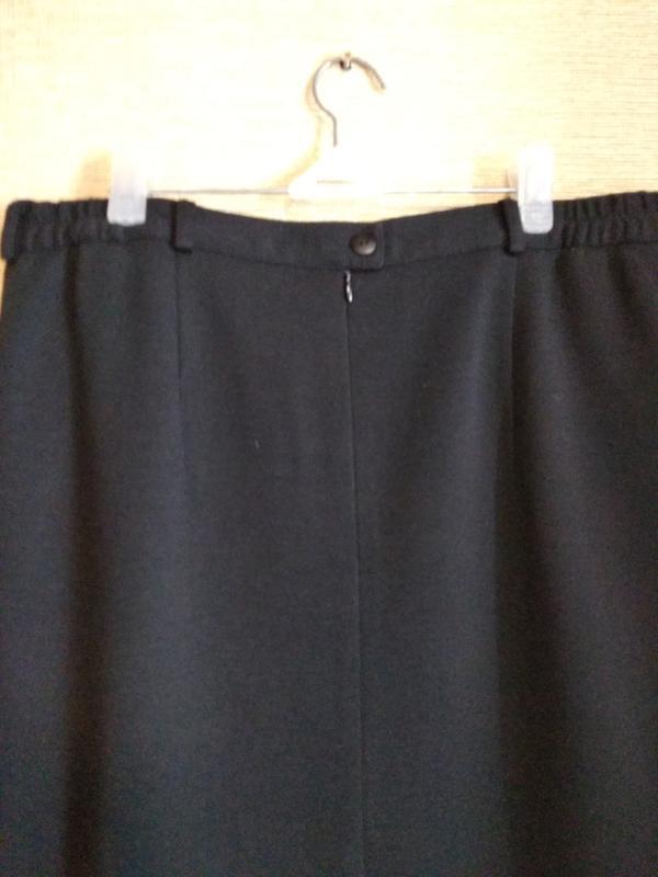Прямая классическая юбка спідниця с шлицей шерсть - Фото 4