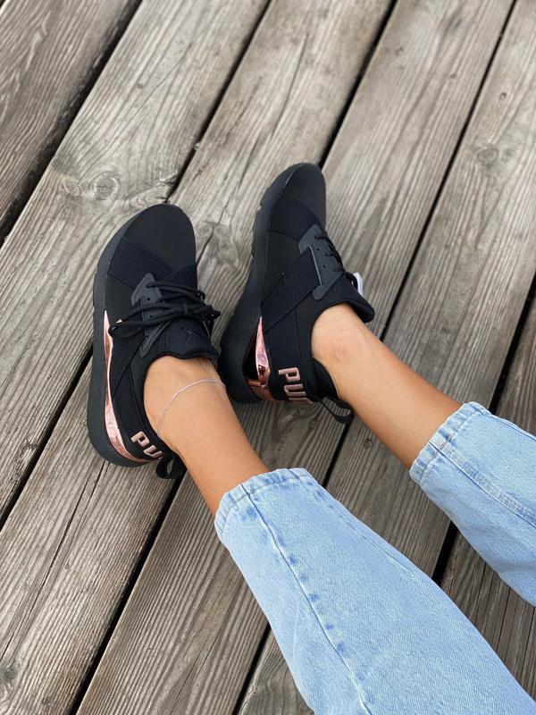 Кроссовки женские  black/gold - Фото 6