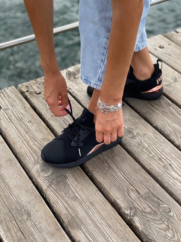 Кроссовки женские  black/gold - Фото 10