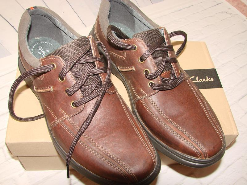 Туфли мужские ,демисезонные кроссовки clarks , кожаные, оригинал - Фото 3