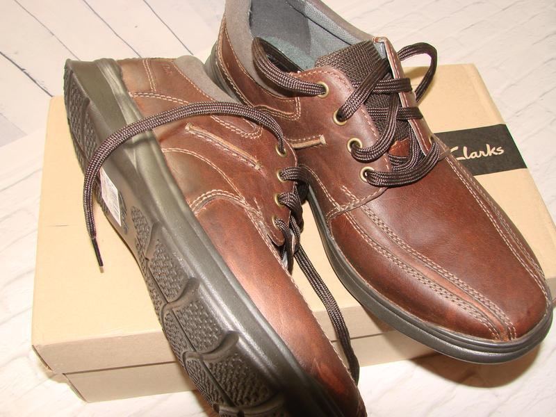 Туфли мужские ,демисезонные кроссовки clarks , кожаные, оригинал - Фото 4
