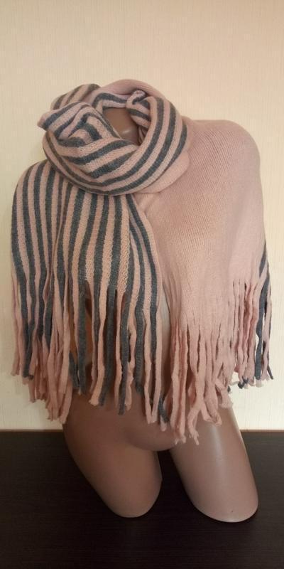 Стильний теплий шарф 778н - Фото 2