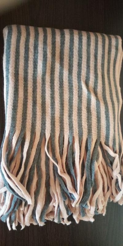 Стильний теплий шарф 778н - Фото 3