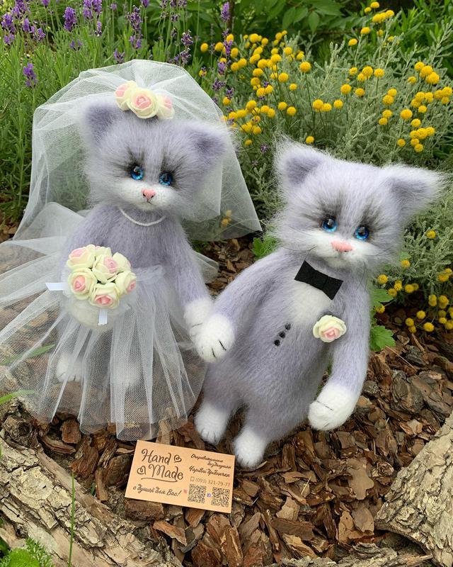 Котики свадебные