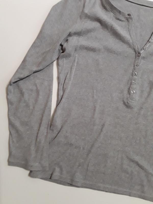 Фирменный лонгслив блуза - Фото 2