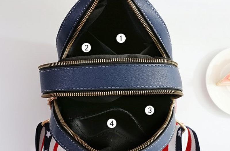 Стильный женский мини рюкзак - Фото 10