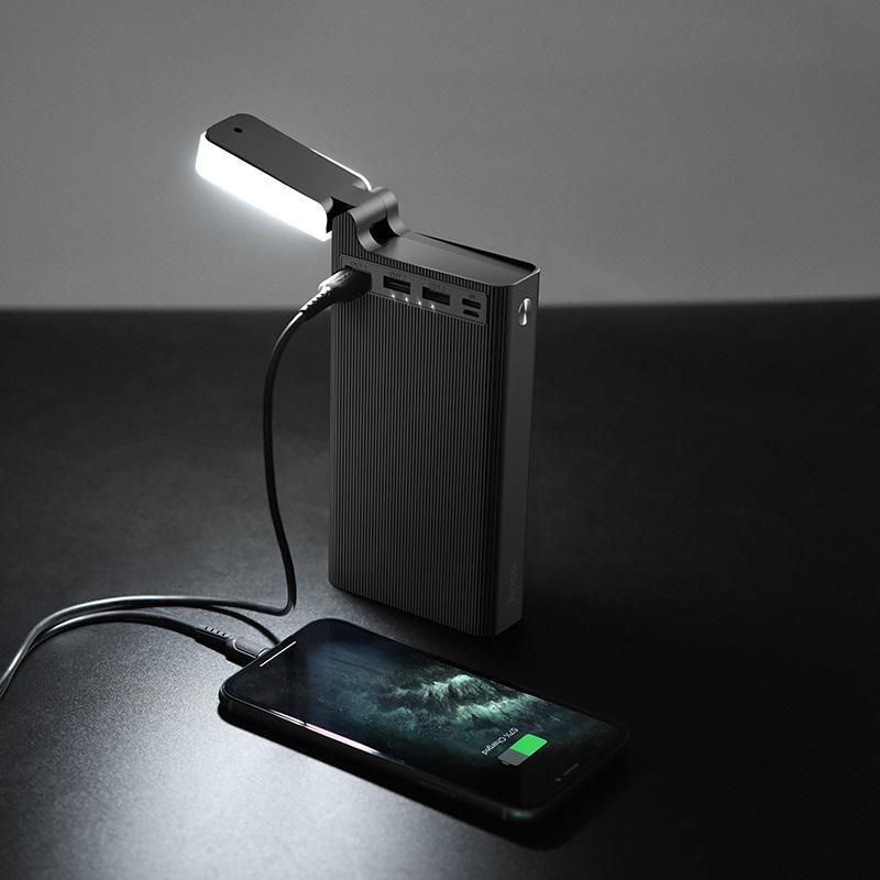 Power Bank Hoco J62 Jove table lamp mobile power 30000mAh Black,W - Фото 4