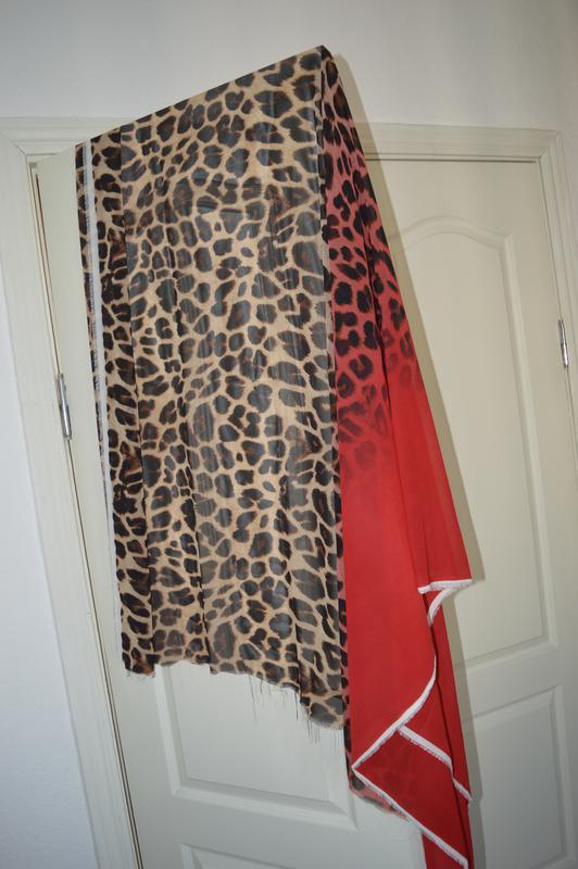 Новый отрез ткани шифон леопард