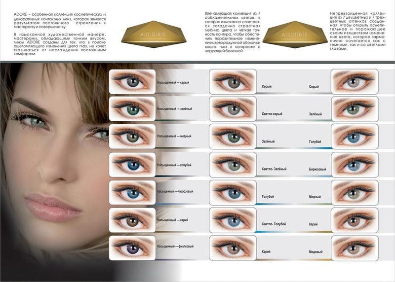 Итальянские цветные контактные линзы ADORE Bi-Green - Фото 4