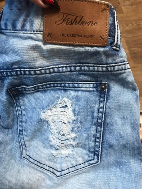 Стильные джинсовые шорты с завышенной талией и царапками  сша - Фото 7