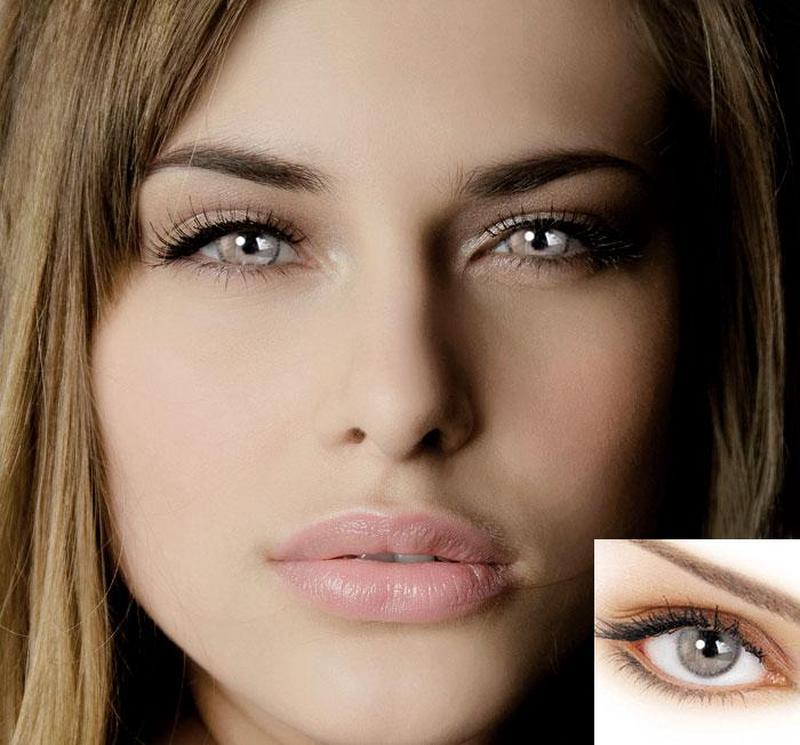 Итальянские цветные контактные линзы ADORE Bi-Grey