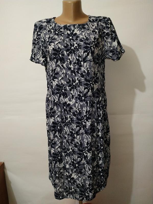 Платье миди натуральное в гобеленовый принт john lewis uk 12/40/m