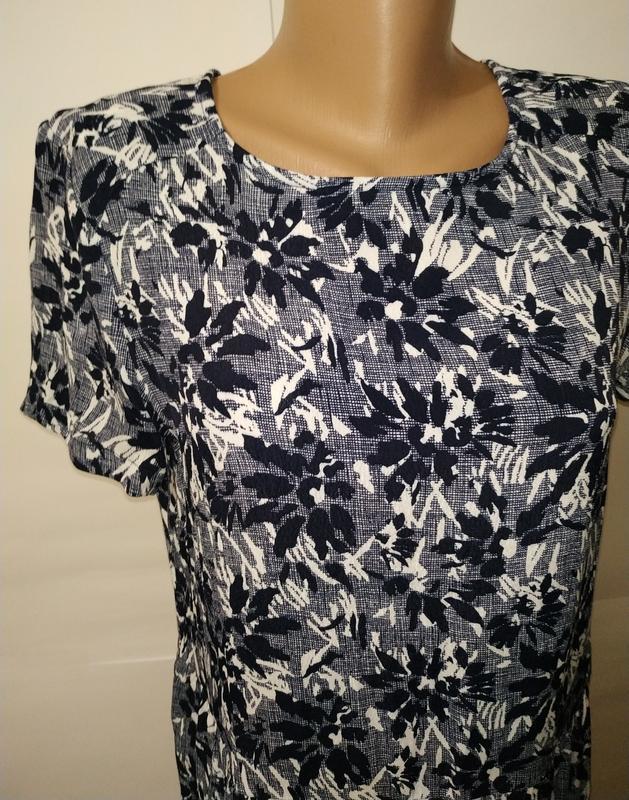 Платье миди натуральное в гобеленовый принт john lewis uk 12/40/m - Фото 2