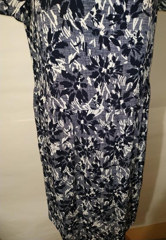 Платье миди натуральное в гобеленовый принт john lewis uk 12/40/m - Фото 3