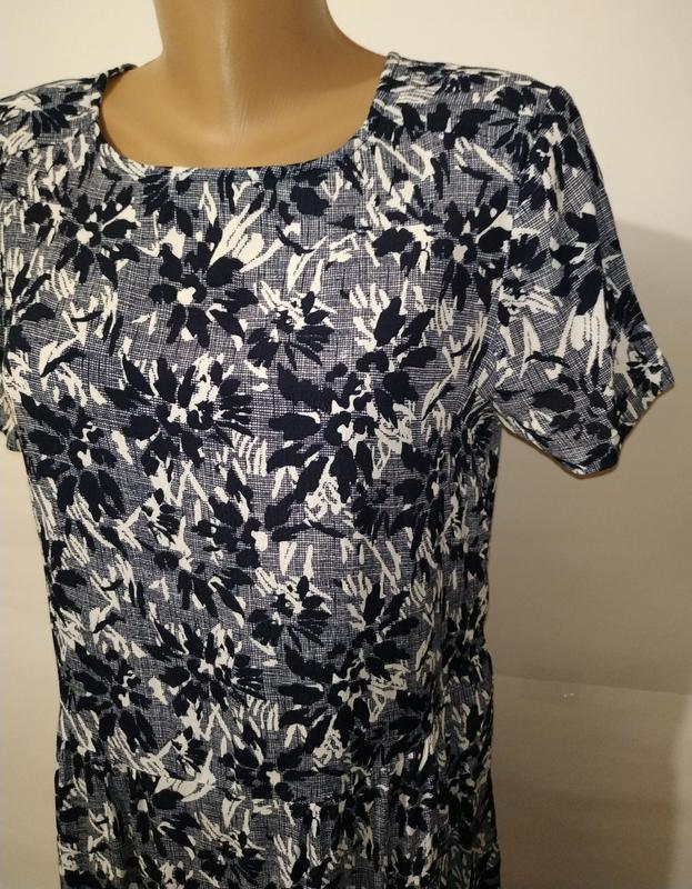 Платье миди натуральное в гобеленовый принт john lewis uk 12/40/m - Фото 4